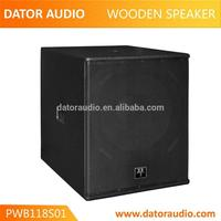 Skilled in design loudspeaker best quality pa subwoofer box