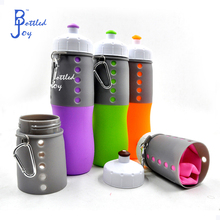 silicone travel bottle for drink and sport 650ml capacity with custom logo