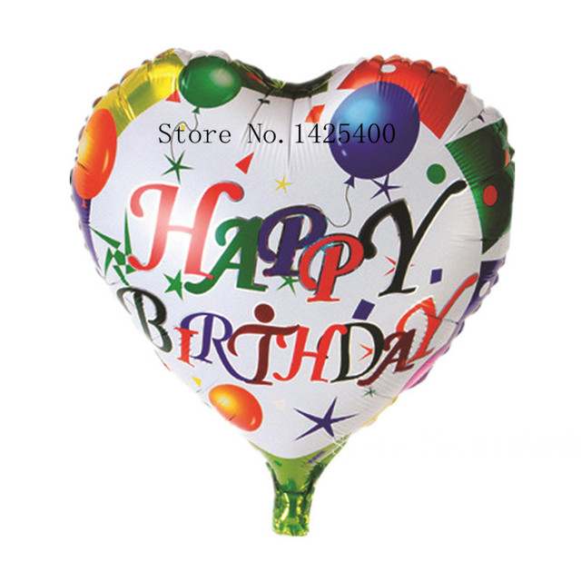 new 18 inch round aluminum balloons Happy Birthday balloons decorated children's toys wholesale party