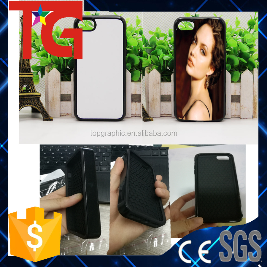 2 layer shock protective ,sublimation blank TPU + plastic phone cover