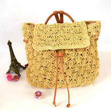 Wholesale New Multi-functional Double Shoulder Fashion Straw Women Bags