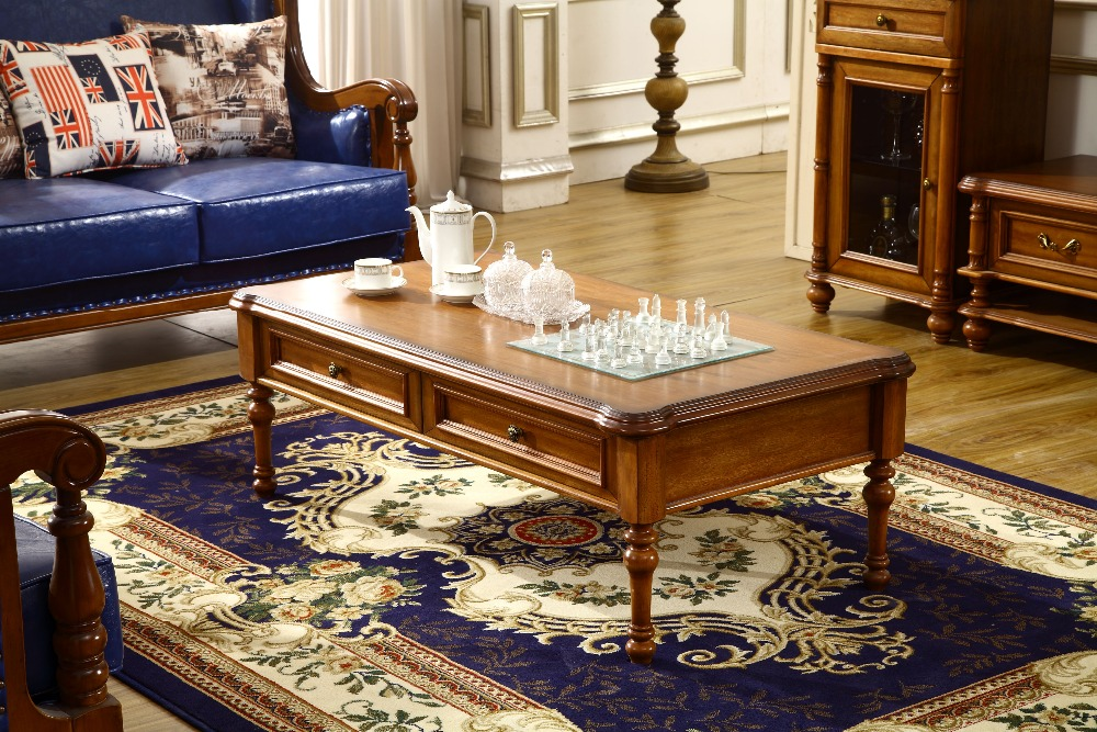 french style luxury classic wood coffee table