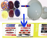 High temperature silicone ink for screen printing raw materials