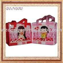 Durable using low price pp woven reusable zipper shopping bag