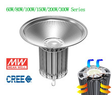 250w led high bay light with creeled and meanwell driver, 45/60/90/120 degree beamangle,cooper heatpipe cooling solution