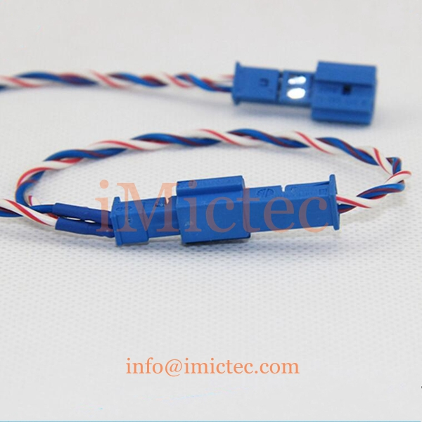 Customizable Left 2Pin Aux,Audio male to female connection wire harness for car inner aux connection