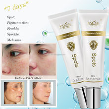 Kstimes 7 days all dark black spot facial speckle removing whitening pimple removal cream