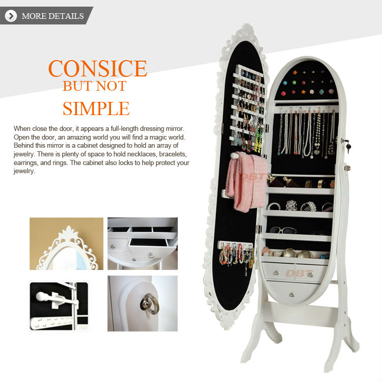 Cheap fashion high quality vanity mirror jewelry cabinet form omilai have Europe designed