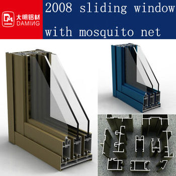 new design standard africa Aluminium Sliding Window with mosquito screen frame details online