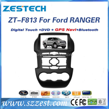ZESTECH screen touch double core Car audio navigation system for Ford ranger with GPS navigation