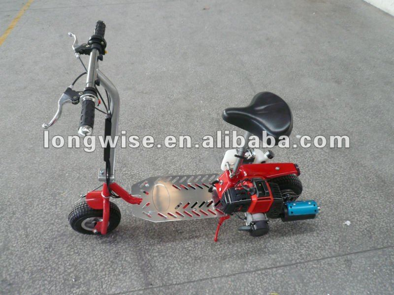 gas moped scooter(49cc, 2 strokes, disc brake)
