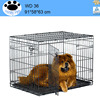 Black folding12x12x6 foot classic galvanized outdoor dog kennel cage