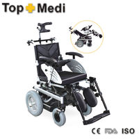 Reclining electric wheelchair/heavy duty electric wheelchairs/adult rollator