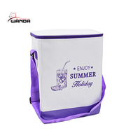 24-Can Collapsible Insulated Can Cooler Lunch Bag with Strap
