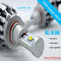 2014 New designed all in one cree led motorcycle headlight H1,H4,H7,H11,9005,etc...