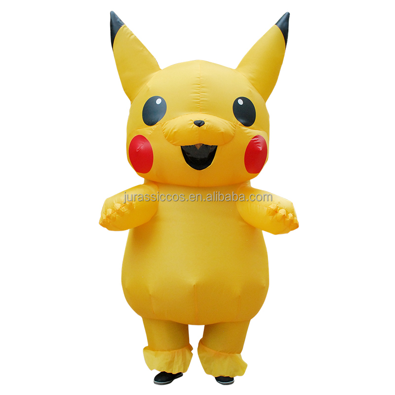 Adult Inflatable Pikachu Mascot Costume Animal Costume