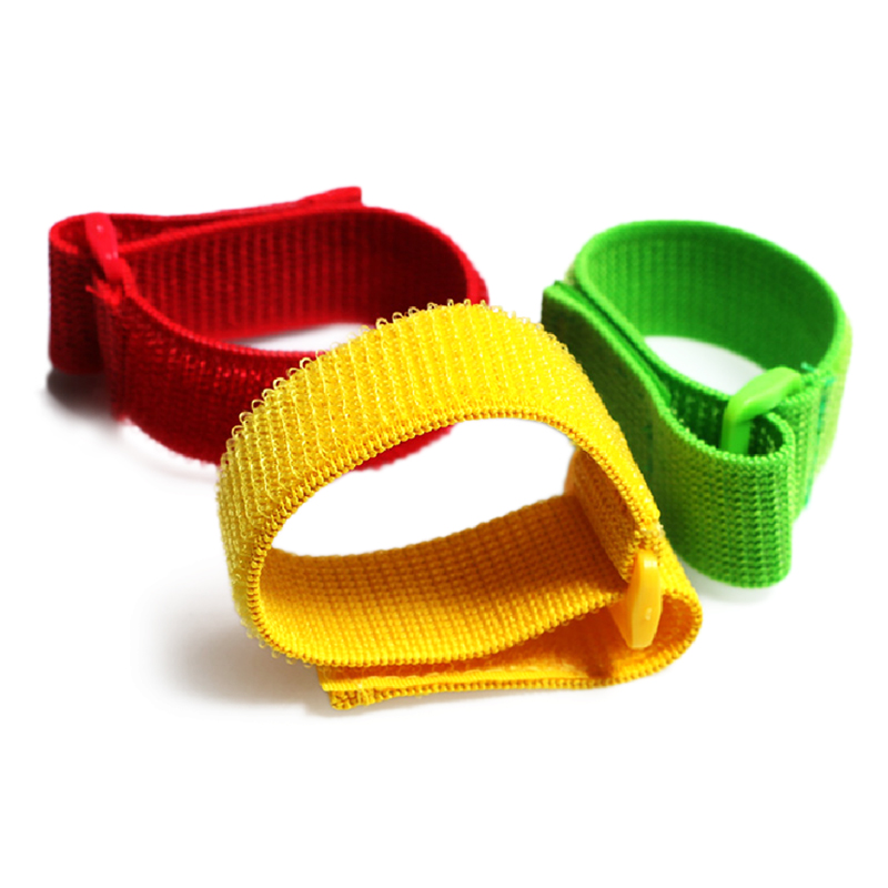 adjustable Elastic hook and loop nylon Strap with plastic buckle