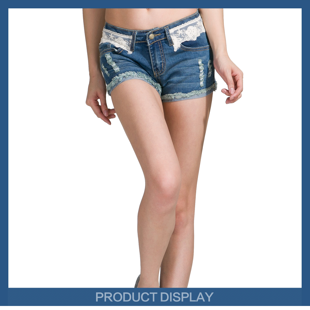 Hot short jeans girls cheap price jeans wholesale china
