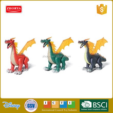 B/O animal toys sound & dynamic light plastic Simulation lay egg dragon toys with wings