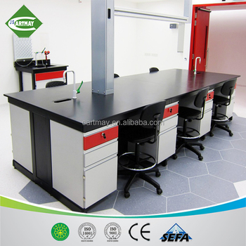 2018 physics classroom workbench with phenolic resin worktop,lab workbench