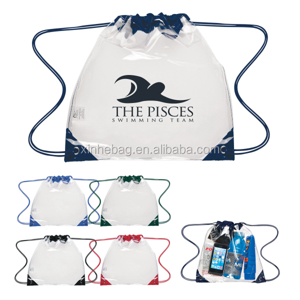 transparent Drawstring PVC Bag