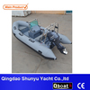 RIB Hypalon Inflatable Boat Fiberglass Boats For Fishing