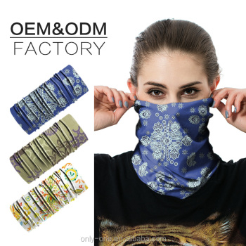Winter Multi-Function Custom Made Seamless Outdoor Sports Black Skull Bandana