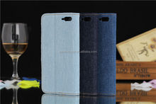2014 Hot Selling Jean Pattern Flip PU Leather Case For Amazon Fire Phone With Card Slots
