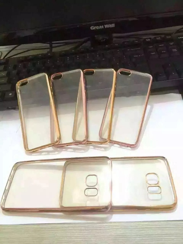 Newest mobile phone electroplate tpu soft phone case for iphone 7,Hot selling mobile phone accessores
