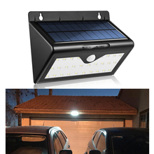 Solar Lights 28 LED Wall Light Outdoor Security Lighting with Motion Sensor Detector for Garden Back Door Step Stair Fence Deck