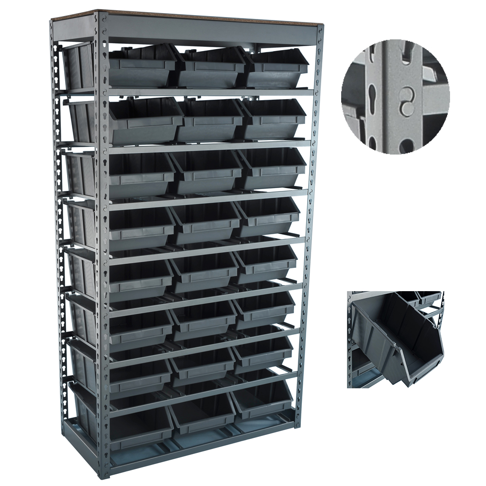 Multifunctional Industrial Metal Storage Warehouse Spare Parts Plastic Bin <strong>Rack</strong>