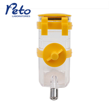 PETO pet water feeder with non drip leak-proof nozzle small pet drinking bottle waterer