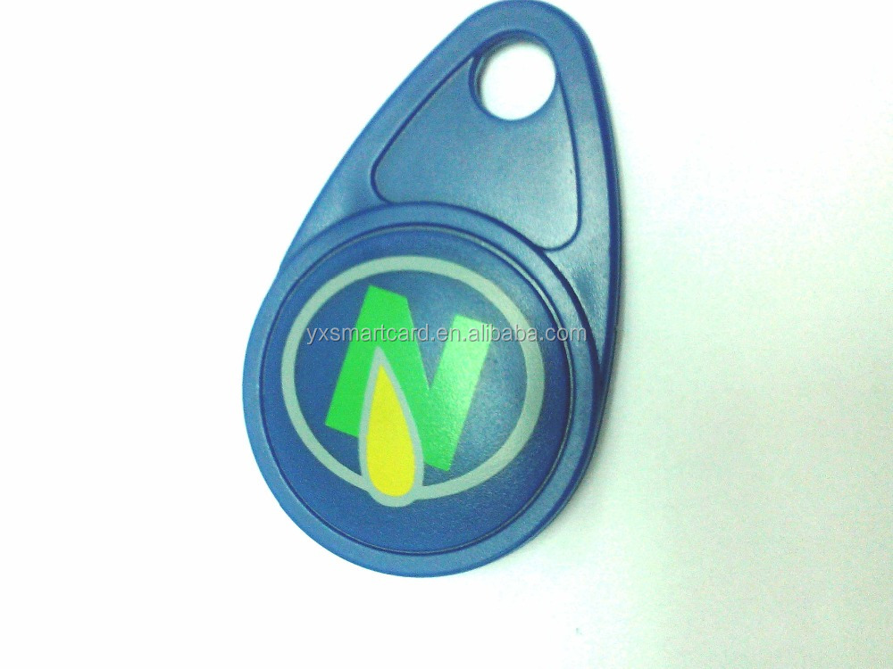 plastic cheap rfid keyfob tag with TK4100,EM4100,T5577.EM4305 chip