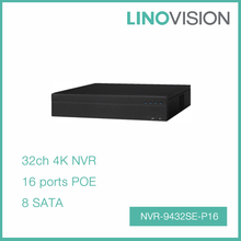 Professional 32CH 2U H.265 PoE 4K NVR with 256Mbps Bandwidth , Support P2P