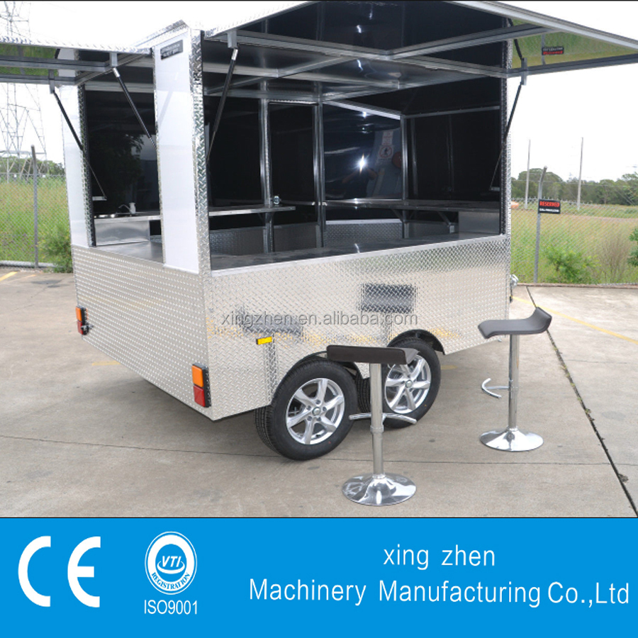 Multi-Use Mobile Catering burger Van Trailer For Sale
