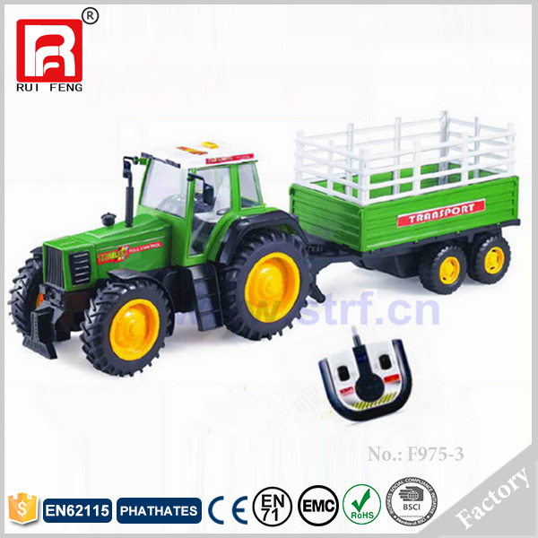 Green color Plastic RC Toy Trucks And Trailers