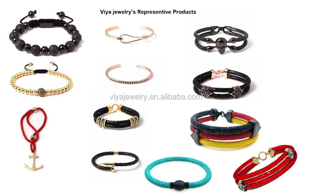 Classic stingray leather bracelet for fashion men