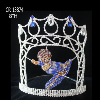 Rhinestone pageant crown surfing Boy Crowns