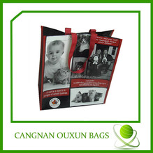 eco friendly laminated pp woven reusable shopping bags custom