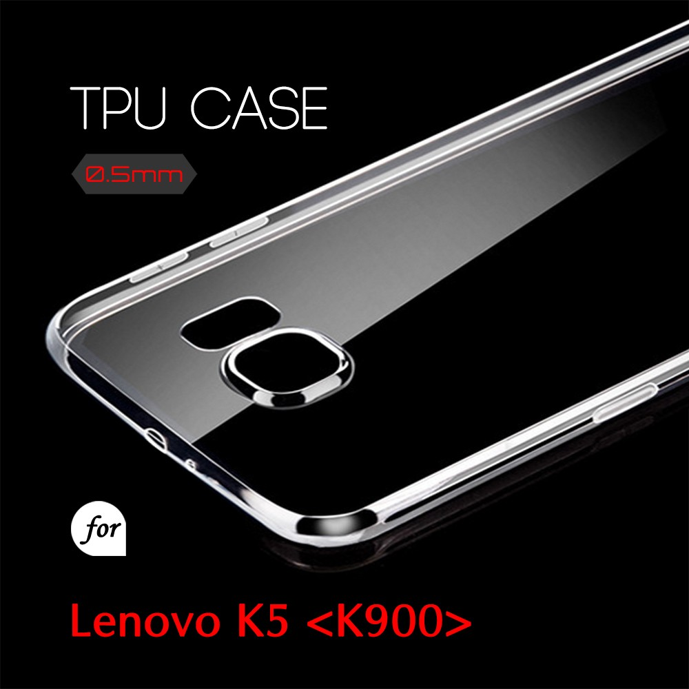 0.5mm Ultra Thin TPU Transparent Clear Protective Case for Lenovo K5 K900