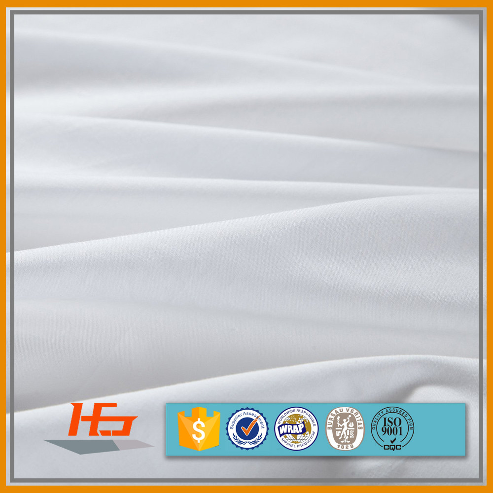 200 Thread Count Plain White Fabric For Bed Linen
