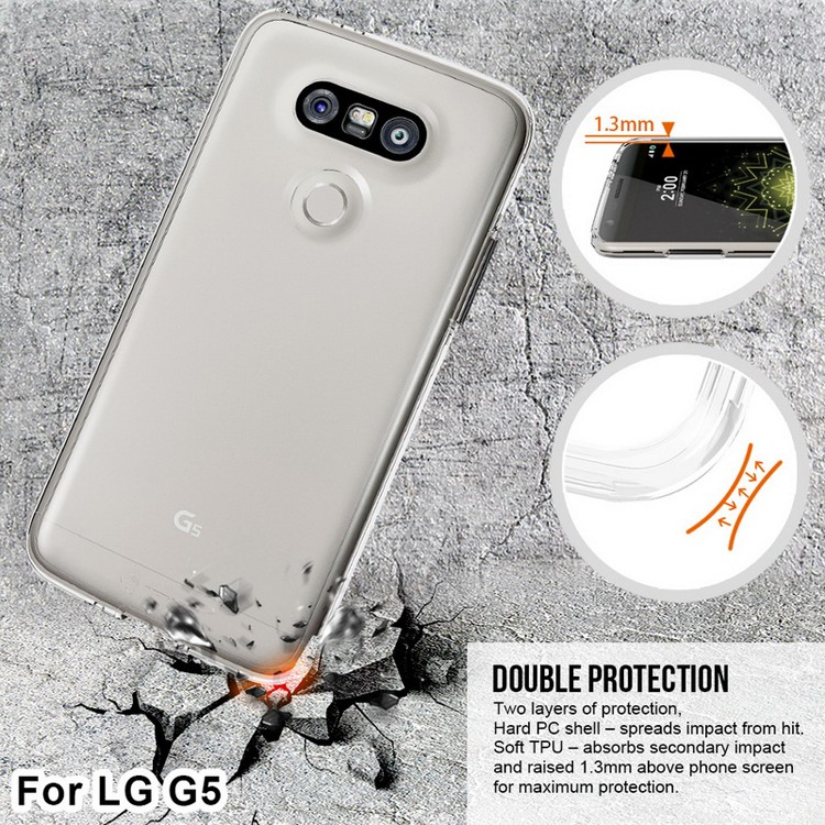 G5 back cover, slim pc case for LG G5 with tpu inlay