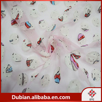 hot selling products Polyester Embroidery Chiffon Fabric