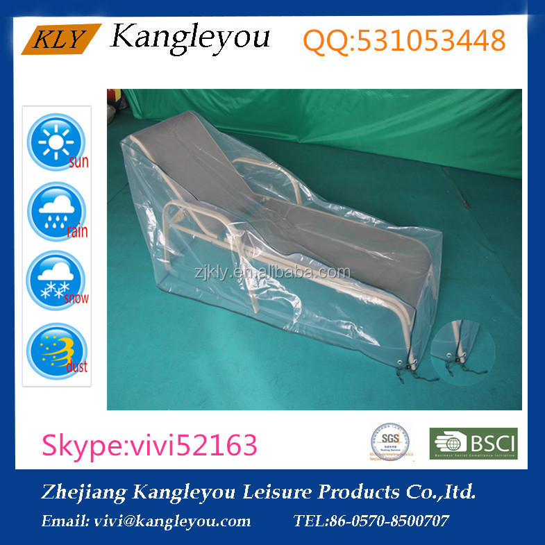 Transparent PE film outdoor furniture covers sun lounger covers