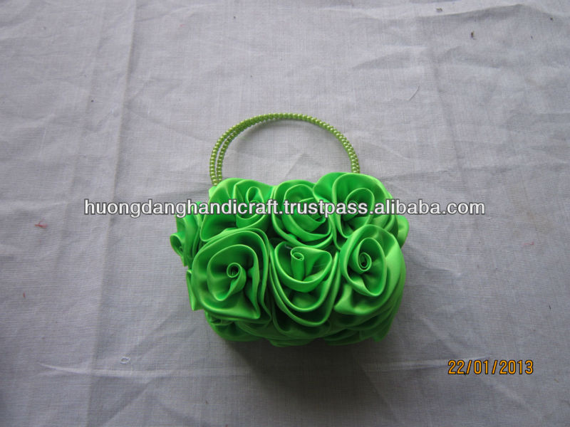 folding rose shopping bag
