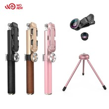Super quality Aluminum mobile phone bluetooth monopod folding selfie stick