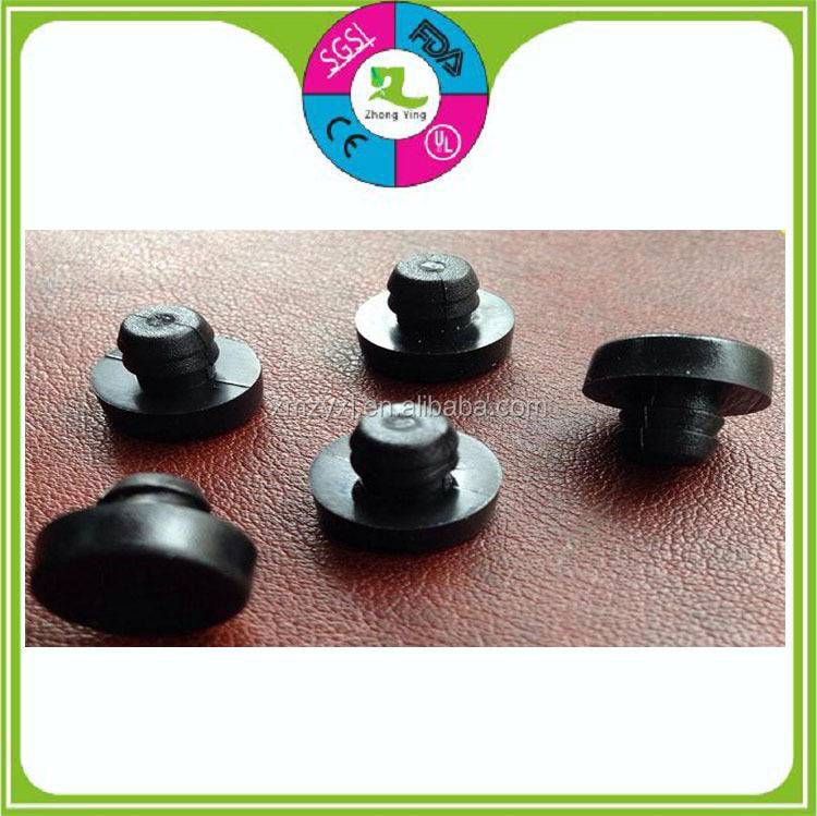Custom medical black silicone rubber hole stopper plug