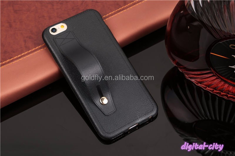 Luxury soft TPU protect cover for iphone 5 5S SE 6 6S 6Plus 7 7Plus Imitation Leather Texture phone case with Ring buckle stents