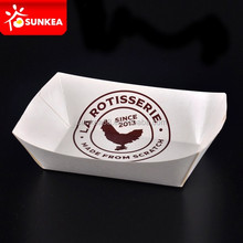 Printed disposable party paper fast food packing tray