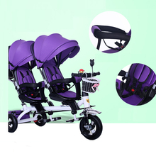 Twin Double Baby Stroller Can Ride Can Lie Can Sit